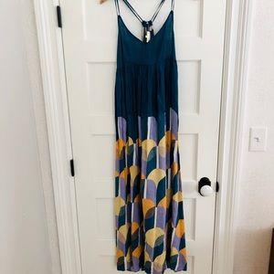 Anthropologie Carla Weeks Strappy Maxi Dress, M